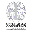 Simplified SEO Consulting Logo: Improving Search Engine Rankings for Private Practice Owners.
