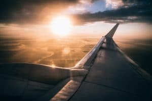 Picture of airplane wing. An SEO Consultant can help your counseling website take off. SEO training and monthly packages available.