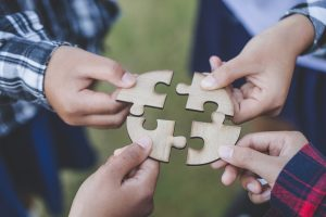 Puzzle pieces going together | SEO Training & Monthly SEO Packages for Therapists & Mental Health Providers