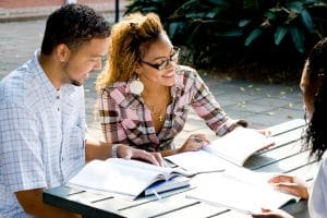 Photo of students studying | SEO Marketing for therapists | Learn how a counseling website can rank well