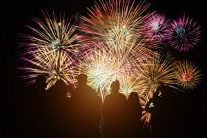 Outline of people watching fireworks to represent small business owners celebrating having chosen topics for blog posts. Learn how to choose blog post topics that will truly help your ideal clients.