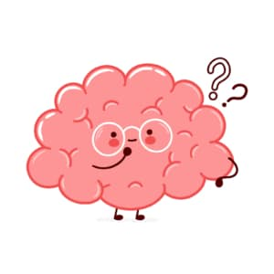 An animated brain with question marks is shown. This demonstrates concepts of boosting counselor SEO. Simplified offers consultant SEO services.