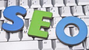 The letters S.E.O representing search engine optimization