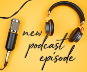 """A photo shows a microhone with wires that read """"new podcast episode."""" This is a way to boost your podcast SEO."""