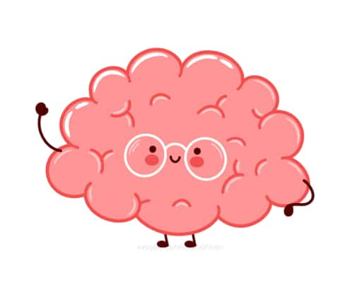 A cartoon brain looks empowered. This reflects concepts learned while doing your own website optimization. Simplified is able to teach you how to do your own website optimization and build SEO.