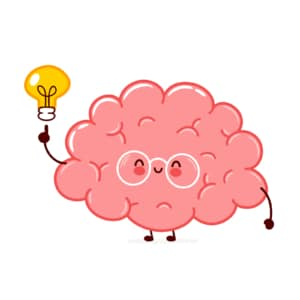 A brain with a lightbulb is shown. This relates to concepts of boosting counselor SEO. Simplified offers consultant SEO services to help therapists boost SEO.