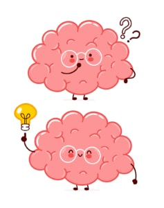 Two brains are shown. This demonstrates concepts of doing your own website optimization to boost therapist SEO.
