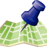 Image of a digital illustration of a green map with a large blue pin pointing to a location. Counselors hoping to gain more clients can work on their private practice website with an SEO services consultant.