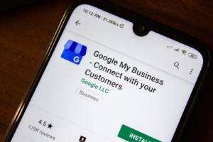 """Google my business download app screen. When you're doing SEO and Google my business, its important to help well optimized information that draws in clients. Get your questions answered such as """"does google my business increase ranking"""" and more. Read now!"""