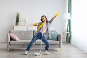 Woman cleaning living room while singing and dancing. Begin your authentic self matters. Create genuine website about pages and the best meet the team pages with us. Learn how our strategies have helped SEO for therapists and SEO for mental health professionals.