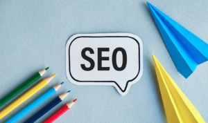 Colored pencils, colored airplanes and SEO thought bubble. Black hat SEO tactics have damaged many therapy websites and our mental health SEO specialists want to help you avoid this. Learn the difference between white hat SEO and black hat SEO today!