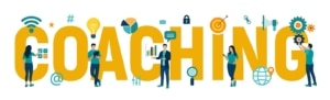 Yellow coaching words. SEO for coaches, includes seo for life coaches, health coaches, body image coaches, and more. If you need help with an SEO strategy, learn how we can help you find the best seo keywords for coaching today!